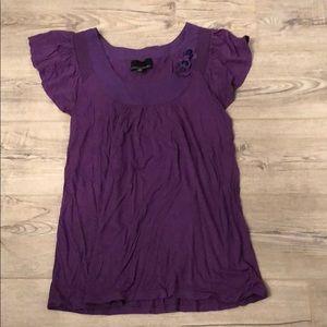 Purple Cynthia Rowley Top Size M
